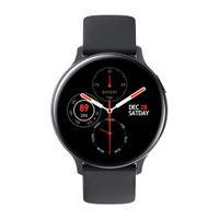 Spor Akıllı İzle S20 Erkekler Saatler İşlevli Adım Sayısı Kalp Hızı İzleme Silikon Kayış Dokunmatik Ekran Saatı 44mm