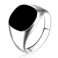 Los hombres de la vendimia de la joyería anillo de aleación: Hombre de moda minimalista Diseño Oro Negro Plata gota del aceite de esmalte Hombre Anillos Tamaño 7-12