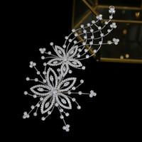 mariage zircone haute qualité tiare de cheveux de mariée pince fleurs dames cheveux bandeau mariage accessoires tiare de mariée