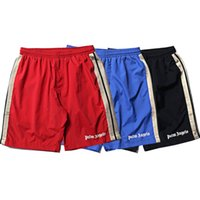 Palm Angels Shorts A righe laterali con coulisse Shorts Uomo Donna Estate Sportswear Gym Bottoms Rosso Nero Blu CLI0446