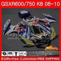 Kit per Suzuki Pepephone Stock GSXR-750 GSXR-600 GSXR750 K8 GSXR 600 750 Body 9HC.86 GSXR600 GSX R750 R600 08 09 10 2008 2009 2010 carenatura