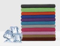 88 * 33cm Asciugamano ghiacciato Raffreddamento Estate Colpo di sole Esercizio sportivo Freddo Asciugatura rapida Morbido Asciugamano rinfrescante traspirante