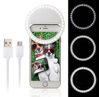 Universal Selfie LED Bague Flash Light Portable Mobile Téléphone 36 LED Selfie Lampe Anneau Lumineux Clip Pour IPhone 6 8 7 Plus