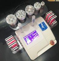 6 em 1 40K Lipoaspiração Ultrasônica Cavitação RF Máquina 8 Pads 650nm Lipo Laser Slimming Machine Vácuo RF Rejuvenescimento