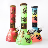 "Colorful 12"" 7MM thick Glass Beaker Bong Glass Water Pi..."