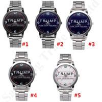 Quarz-Armbanduhr Trump 2020 Armbanduhr Alloy Stainless-Bügel-Uhrenarmband Luxus-Designer Retro Unisexuhr Partei-Bevorzugung MMA2764