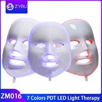 De boa qualidade A máscara protetora da beleza do diodo emissor de luz de 7 cores PDT conduziu a máscara leve da terapia para o rejuvenescimento da pele