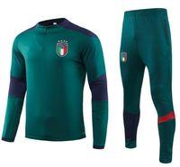Tailândia Itália Soccer National Soccer Ternos Verdes 2019 Verratti Marchisio Completo Zipper Manga Longa Tracksuits Kits Chandal Soccer Jerseys