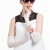 1 Paar Sonnenschutz Fingerless-Partei-Kostüm-Frauen Lange Spitzen Handschuhe Fahren Handschuhe SEXY Handschuhe