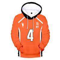 Cosplay Haikyuu Jersey Hoodies Sweatshirts Hinata Shouyou 3D-Druck Kapuzenshirt Volleyball Uniform Harajuku Pullover Tops Jungen