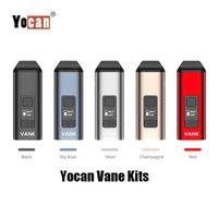 100% Original Yocan Vane vaporizador 1100mAh seco Herb Kit Herbal temperatura do dispositivo ajustável cerâmicos Aquecimento Câmara display OLED Vape Pen