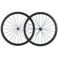 700C Tubeless 38mm Carbon Laufrad Straßen-Fahrrad 3K Matt Carbon-Räder Schwarz 271 Hub Racing Wheels 25mm Breite