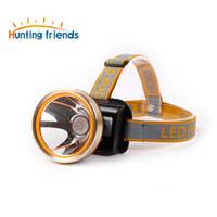 2 Işık Modu ile akıllı LED Far Su Geçirmez Far Dahili 2x18650 Şarj Edilebilir Piller Ayarlanabilir Altın Baş Troch