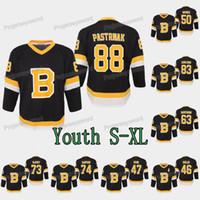 Gençlik Çocuklar Boston Bruins David Pastrnak Jersey Torey Krug Matt Grzelcyk Karson Kuhlman Brad Marchand Jake Deprusk Anton Blidh Kevan Miller