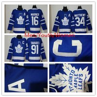 Vente chaude Toronto Maple Leafs Jersey 91 John Tavares 34 Auston Matthew 16 Mitchell Marner 100% Broderie A C Patch Hommes Femmes Jeunes enfants