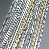 Vendita al dettaglio più di 20styles della collana della catena dell'acciaio inossidabile 316L Lanterne collana piatto ovale sfera chiglia catena per il pendente donne uomini medaglione