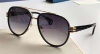 أزياء الطيار نظارات معدنية الذهب أسود رمادي متدرجة 0447 النمط الشعبي النظارات الشمسية حماية نظارات للأشعة فوق البنفسجية 400 مع عدسة مربع