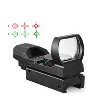 핫 20mm 레일 Riflescope 사냥 광학 홀로그램 레드 닷 시력 반사 4 십자선 전술 범위 콜리 사이트