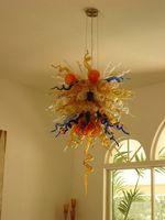 Luxury Multicolor casa Merce mano moderno di alta qualità soffiato cristalli di vetro ciondolo luce Chihuly stile lampadario in vetro di Murano