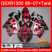 Suzuki GSXR 1300 1996 2002 2003 2004銀色RED 2005 2006 2007 24HC.301 GSXR-1300 HAYABUSA GSXR1300 96 02 03 04 04 05 06 06 07 07 07フェアリング