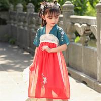 Bühnenabzug Mädchen Hanfu Fairy Kleid Traditionelle chinesische Kleidung Tanz alter Kostüm Festival Outfit Folk Performance Kleider