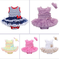 abito da bambino pagliaccetto con cerchietto per ragazza Pageant Ball Gown Princess Dresses Floral Jumpsuit Romper Dress KKA6691