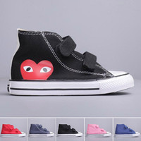 Kids COMMEs des GARCONS PLAY Canvas Shoes Boys 1970 Boots Gi...