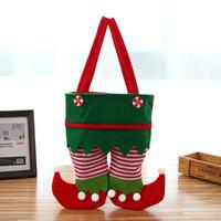 Noël Père Noël Sac Pant bonbons sac-cadeau de sucrerie de Noël Couverture de Noël sac-cadeau pantalons Sucrerie Sacs fête de Noël Décoration DBC VT1199