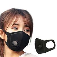 الرجال النساء قناع PM2.5 التلوث الوجه الفم التنفس الأسود تنفس صمام قناع مرشح 3d الفم غطاء DHB365