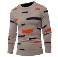 Mens Designer Sweaters Autumn New Casual Geometric Long Slee...