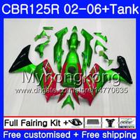 Körper + Tank für Honda CBR-125R CBR125R 2002 2003 2004 2005 2006 2006 272HM.AA CBR 125cc 125 R 125R CBR125RR Heißer Verkauf grün 02 03 04 05 06 Verkleidungen