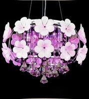 Modern LED Kristal kolye Odası Aydınlatma Lambası Yemek Basit Tavan Işık El yapımı Petal Avize Yatak Işık Işıklar