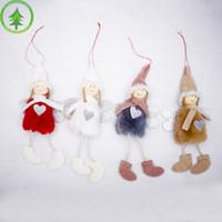 Ángel relleno peluche muñeca navidad colgando cosas colgante árbol casa navidad adornos decoración regalo para niños familiares