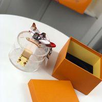 Mode Sacs cosmétiques Vintage Matériel verre organique nécessaire de toilette de haute qualité Lady Voyage petit ruban Boîte de rangement avec la boîte Livraison gratuite