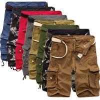 Cordeurs pour hommes Mens Cargo Cool Camouflage Coton Coton Casual Pantalon Court Vêtements Confortable Camo