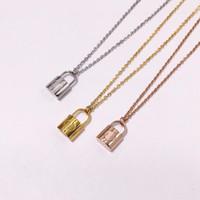 Nuevo collar de joyería de acero de titanio 316L collar de oro 18k collar de plata rosa para hombres y mujeres pareja regalo