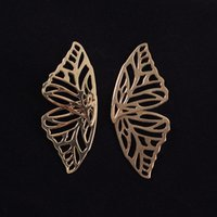 Gold Color Metal Butterfly Earrings Women Fashion Jewelry Ac...