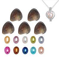 2019 nuova 6-8mm ovale vere perle nelle ostriche 25 colori delle perle Oyster Perle con il regalo di compleanno gioielli di lusso sottovuoto per le donne