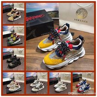iduzi 48 qualitys Chain Reaction Amor Sneakers Mulheres Homens Triplo Preto Leve Link-relevo Sole projeto Formadores de Luxo Casual Shoes