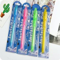 UV invisível tinta fluorescente Pen Magic Invisible Ink Pen Writing Secret Message gadget com luz UV papelaria YYA13