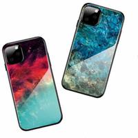 حالات الزجاج المقسى آيفون 11 5.8 بوصة التدرج الملونة الهاتف واقية شل غطاء iPhone11 برو ماكس 7 8 زائد XR XS XS