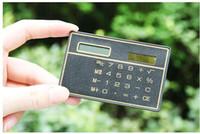 8 cijfer Ultra dunne zonne-energiecalculator met touchscreen Creditcardontwerp Draagbare Mini Calculator voor Business School