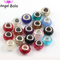 20pcs mode / lot mixtes 925 argent à la main Murano Verre Perles charme pour Bijoux Bracelet Paneuropéen