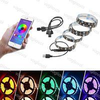 LED Strips Bluetooth RGB Light 5050 étanche DC 5V USB USB 1M 2M App Contrôleur de téléphone portable Éclairage de vacances pour fond de télévision DHL