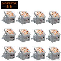 TIPTOP 12 Birimler freedoom Çekirdek Hex 12x18W 6in1 RGABW UV Akülü Kablosuz LED Par Işık telefon uygulaması uzaktan led ekran ekranı kontrol