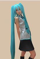 لمة الشحن مجانا Vocaloid تأثيري تأثيري Miku Hatsune 2 ذيل الحصان الباروكة تأثيري