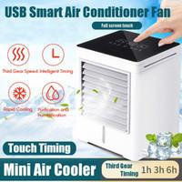 USB-Touch-Screen-Air Conditioning Mini-Timing-Luftkühler Geräte Kleinluftkühlgebläse Home Sommer Tragbare Conditioner