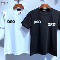 DSQ PHANTOM 거북이 2020SS 새로운 남성 디자이너 T 셔츠 파리 패션 티셔츠 여름 DSQ 패턴 T 셔츠 남성 최고 품질 100 %면 최고 6860