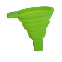 Küche home mini falt teleskop werkzeuge langer hals funneln kreative haushalt liquide trichter tool