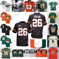 Personalizzato 2020 Miami Hurricanes del calcio Jersey NCAA College Evan Shirreffs Stephen Morris Miller Johnson Rayshawn Jenkins Phillip Dorsett